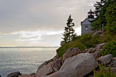 Bass Harbor Head Light House Royalty Free Stock Images