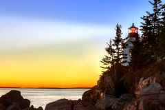 Bass Harbor Head Light House, Acadia, National Park stock photo