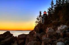 Bass Harbor Head Light House, Acadia, National Park royalty free stock images