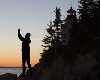 Bass Harbor Head Light House, Acadia, parque nacional Fotos de archivo libres de regalías
