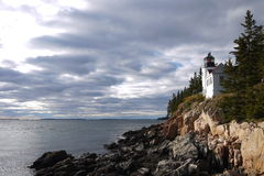 Bass Harbor Head Light, Maine, Etats-Unis Photographie stock