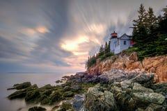 Bass Harbor Head Light, parc national d'Acadia, Maine images stock