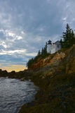 Bass Harbor Head Lighthouse fotografia stock libera da diritti