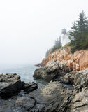 Bass Harbor Head Lighthouse Acadia National Park, Maine Stock Images
