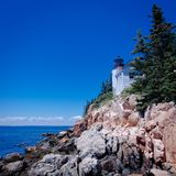 Bass Harbor Head Lighthouse, Maine royaltyfria bilder