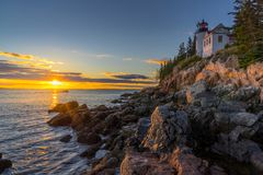 Bass Harbor Head Lighthouse royalty free stock images
