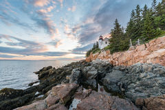 Bass Harbor Light royaltyfria bilder
