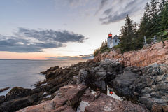 Bass Harbor Light. In Acadia National Park royalty free stock image