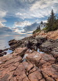 Bass Harbor Light. In Acadia National Park royalty free stock photos