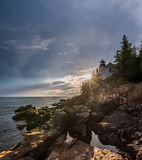 Bass Harbor Light. Lighthouse in Acadia National Park, Maine royalty free stock photography