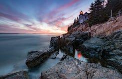 Bass Harbor Lighthouse imagen de archivo libre de regalías