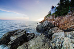 Bass Harbor Lighthouse Arkivfoto