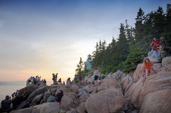 Bass Harbor Lighthouse Royaltyfri Foto