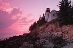 Bass Harbor Lighthouse Imagenes de archivo