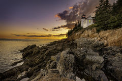 Bass Harbor Lighthouse Lizenzfreies Stockbild