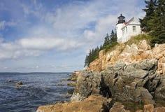 Bass Harbor Lighthouse Acadianationalpark, Maine royaltyfria bilder