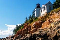 Bass Harbor Lighthouse. Desert Island Maine stock photos