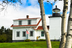 Bass Harbor Lighthouse Home Royalty Free Stock Photo