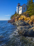 Bass Harbor Lighthouse Maine Arkivbild