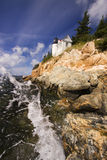 Bass Harbor Lighthouse, parc national d'Acadia, Maine Photos stock