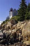 Bass Head Harbor Lighthouse. Lighthouse on Desert Island Maine stock photography