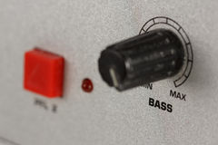 Bass knob of a DJ mixer Stock Photos