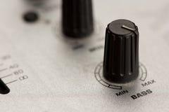 Bass knob of a DJ mixer Stock Photo