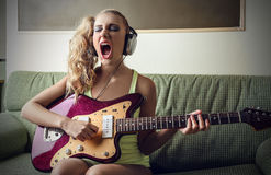Bass-Lektionen Stockfoto