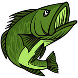 Bass Mascot Foto de Stock Royalty Free