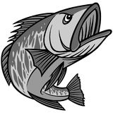 Bass Mascot Illustration Stock Images