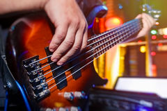 Bass. Play in bass guitar Stock Image