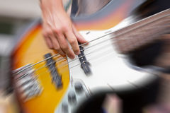 Bass Player Royalty Free Stock Photo