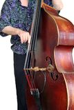 Bass Player. Jazz musician playing the double bass Royalty Free Stock Photo