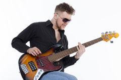 Bass player with attitude Stock Photo