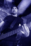 Bass player blue Stock Photos