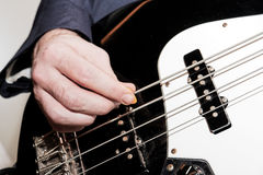 Bass Player Close up Stock Photos