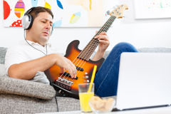 Bass player Stock Image