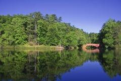 Bass Pond Bridge Royalty Free Stock Photography