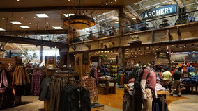 Bass Pro Shop all'hotel ed al casinò di Silverton a Las Vegas, Nevada Fotografia Stock Libera da Diritti