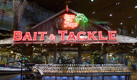 Bass Pro Shops, Springfield, MO Bait and Tackle. Springfield, Missouri is the home of Bass Pro Shops, a fishing, boating, hunting and other outdoor activities stock photography
