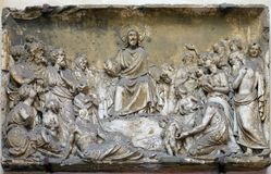Bass relief in Basilica of Saint Sylvester the First San Silvestro in Capite in Rome. Italy Royalty Free Stock Photos