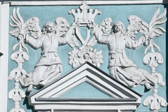 Bass-relief at Saint Sophia cathedral in Kiev Stock Photo