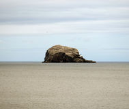 The Bass Rock. Is an island in the outer part of the Firth of Forth in Scotland stock photography