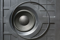 Bass speaker for audio reproduction Stock Photo