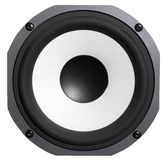 Bass speaker - isolated Royalty Free Stock Photo