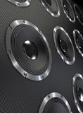 Bass Speakers Background. Bass speakers abstract background. 3D render Royalty Free Stock Image