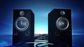 Bass Speakers que golpea pesadamente stock de ilustración
