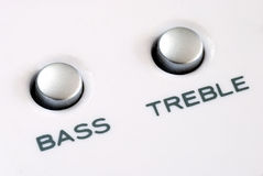 The bass and treble buttons Royalty Free Stock Photography