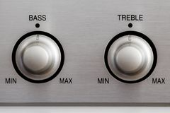 Bass and Treble Knobs Stock Photos