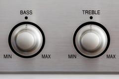 Bass and Treble Knobs stock photos